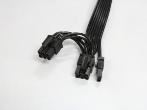 PCI-E 6+2ピン + PCI-E 6ピン ケーブル (コネクタ)