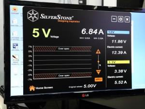 電圧のチューニング画面(SilverStone)