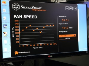 ファン回転数のチューニング画面(SilverStone)