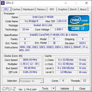 CPUの詳細情報と動作クロックを表示するツール CPU-Zの使い方